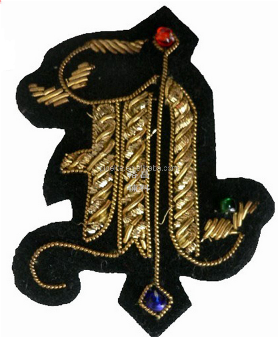 Cheap free design animal shape embroidery badge,custom badges with jewel.png