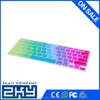 13 printing colours rainbow silicone keyboard cover for macbook pro