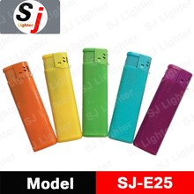 Plastic electronic rainbow colors lighter disposable cigarette lighter