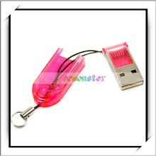 Hot Sale Red USB 2.0 MicroSD writer TF Memory Card Reader