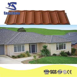 New Sunlight popular colorful stone coated metal roofing tile/metal corrugated roof tiles