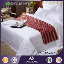 Luxury chinese microfiber cotton printed blue and white bedding set