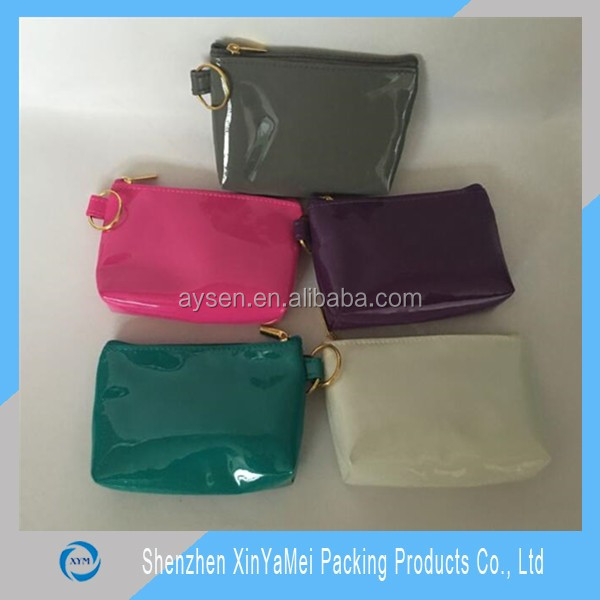 environmental friendly clear plastic pvc zipper purse bag