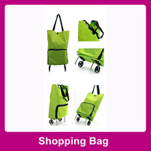 2014 Handy shopping bags with roller