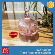 colored glass ridged food storage container