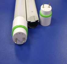 New design T8 round LED tube profile with Green colorful ring end caps