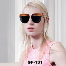 Eyebrows rimless sunglasses fashion ladies sunglasses
