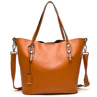 GL432 fashion woman office big italian leather bag wholesale