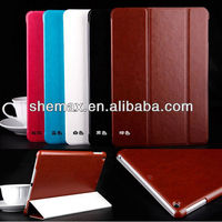 Book style stand flip leather case for Ipad air macbook air case