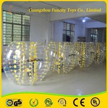 Fashionable durable TPU/PVC inflatable bumper ball, body zorb ball, bubble bumper soccer ball