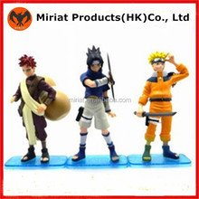 3D plastic fantasy action japanese naruto toy figures
