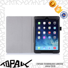 Flip standing leather cover case for Ipad mini 2/3/4, PC plastic cover with card holes for Ipad air