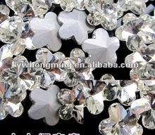 WOW!!Amazing beautiful Flower Shape Crystal Rhinestone 10MM!!2012 Paypal!!