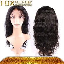 Factory wholesale 100% unprocessed brazilian full lace wig remy human hair