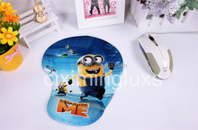 fabric soft touching surface 3D gel mouse pad,hand rest animal design mouse mat