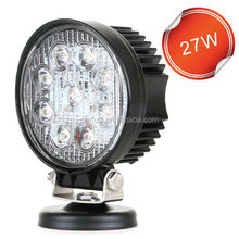 Factory direct 27W round Led Work Light 27W 4wd accessories ,27w led work lamp,led truck work lights
