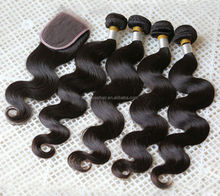top quality natural color 100% human brazilian hair weave brazilian hair with body wave