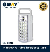 New portable rechargeable lanterns with 1led spotlight and 48SMD led light