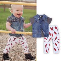 3pieces set autumn 2015 children's leisure clothing sets kids baby boy suit vest gentleman clothes coat + vest +pant