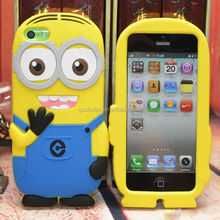 New Arrival 3D Cartoon Soft Silicone Despicable Me Case For iPhone 6 4.7 inch Cute Minions Shockproof Silicone Cover