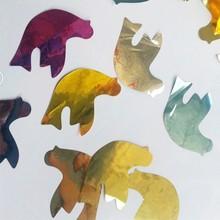 metallic pigeons shape confetti