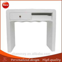 colorful wood house nail desk,wood coffee cosmetic table with beauty style