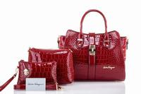3 PCs Women bag -fashion hot selling bags custom wholesale leather handbags