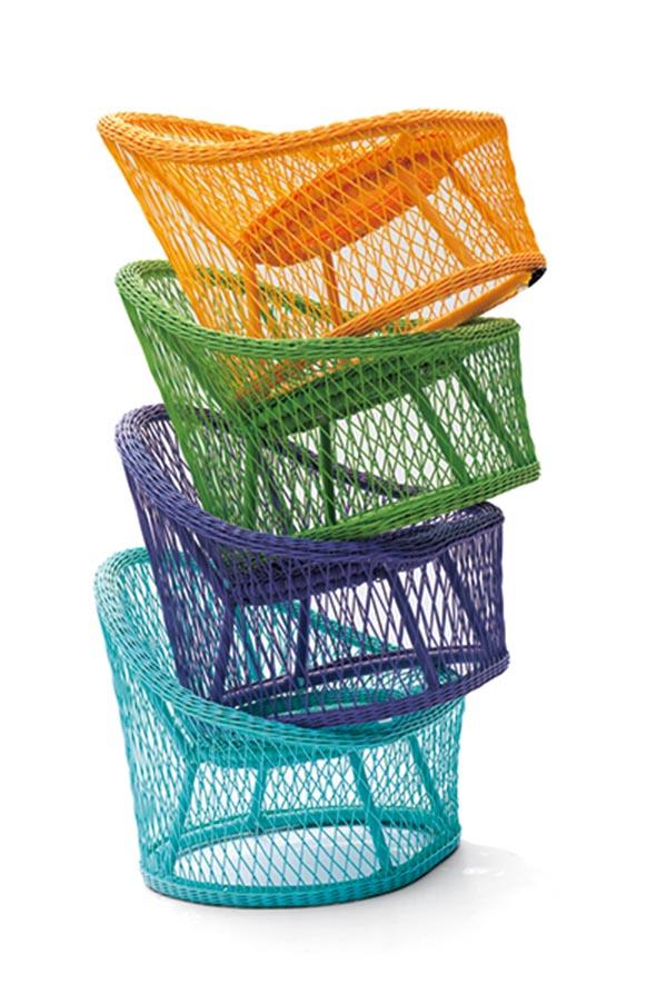 2015 Garden Furniture New Design Rattan Sofa lounge Colorful Wicker Outdoor F