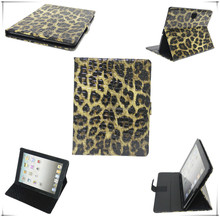 Luxury standing leather case for ipad2/3, with Desk-stand Function