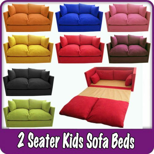 Kids Children 39 S Sofa Fold Out Bed Boys Girls Seating Seat Sleepover Futon Guest Buy Guest Room