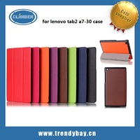 Ultra Slim PU flip leather tablet case for lenovo tab 2 a7-30