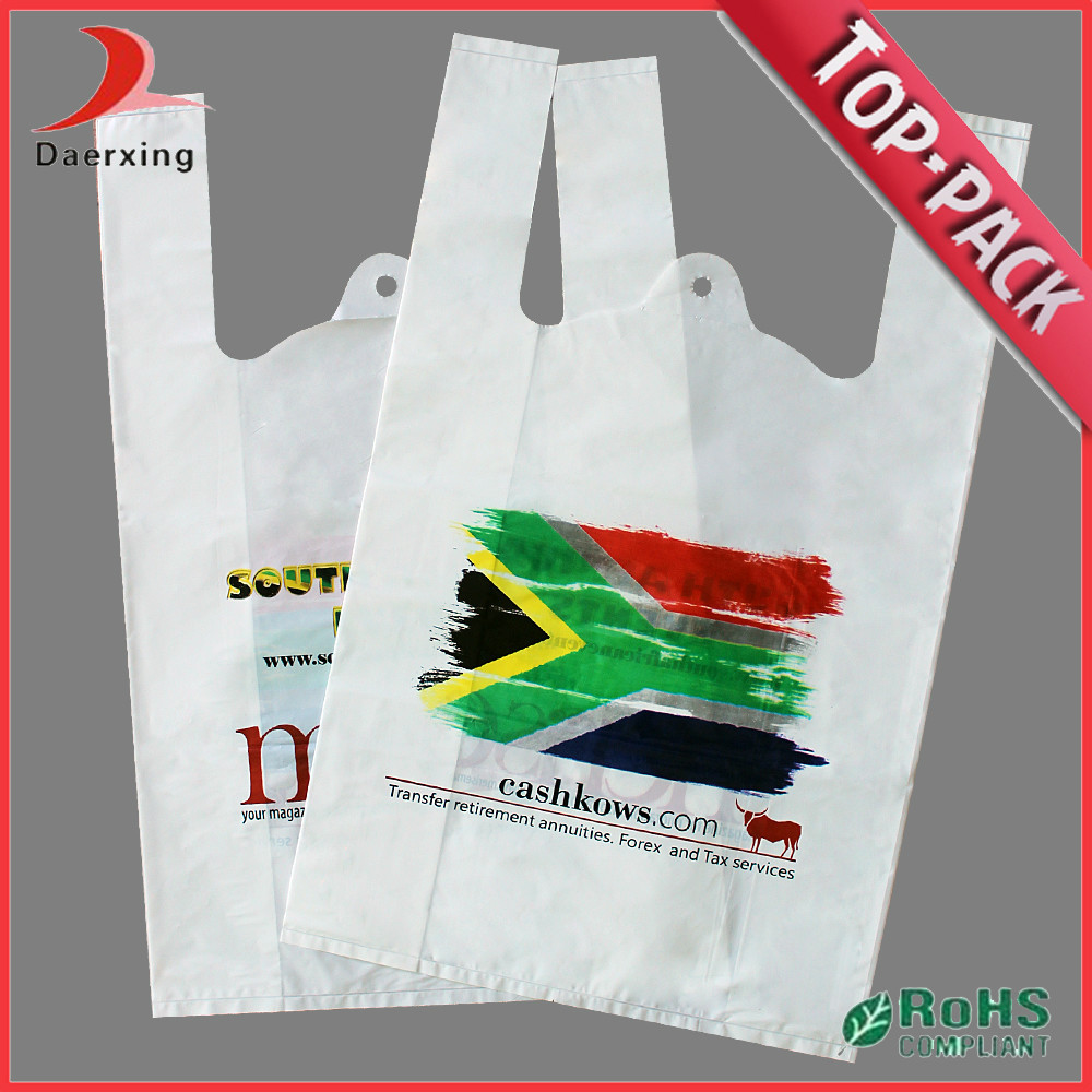 Custom logo large biodegradable color t shirt bag buy for Personalized t shirt bags