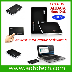 Free Shipping 2015 auto repair software Alldata 10.53 + Mitchell on demand 2013 in 1tb hdd full 12 in 1 auto repair software