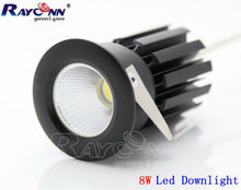 Reliable 8W COB LED downlight 40 60 degree high brightness ceiling downlight for shopping mall lighting