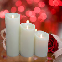 Moving wick flameless LED candle with timer