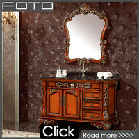 Red rustic solid wood non damaged bathroom vanity for sale