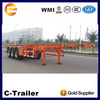 Best Designed Chinese semi trailer manufacturing supplier Chengda 3 axles 40ft used container chassis sale