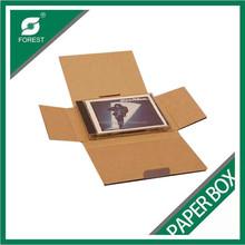 CUSTOM PRINTED WHITE STAY FLAT RIGID MAILERS/ DVD/BOOK PACKING BOX