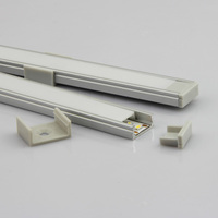 15*7mm led linear Aluminium Profile led liner light with mental clip and plastic clip