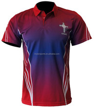 2015 New Mens Sublimation 100% Polyester Golf Polo T-shirt