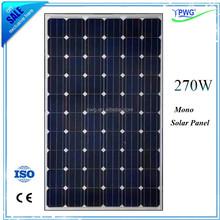 Monocrystalline 270W Mono Solar Panels Monocrystalline Silicon PV Module For Sale