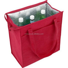 China Wholesale enviormental thermal cooler bag use for wine