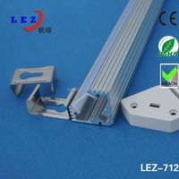 LED Corner Aluminum profile strip light used for showcase lighting