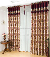 Hometextile Curtain Fabric Blackout Jacquard Design