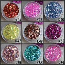 2015 high quality fashionable patterns wholesale glitter powder K63