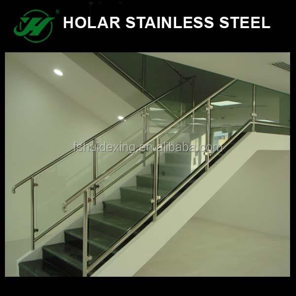 holar stainless steel frameless stair glass railing prices