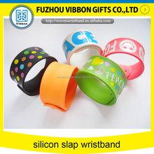 Cheap custom silicon slap bracelet for event & party