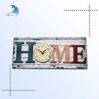 promotional handcrafted mdf wood fashion art design wooden wall clock