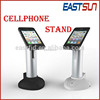 2015 hot sale anti-theft mobile phone display stand holder with charger and alarm for security displays