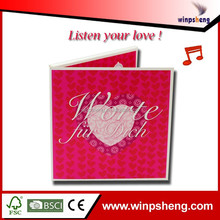 Listen your love! 3d custom music luxurious wedding invitation card